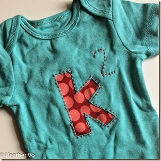 Reverse Applique Onesie by Heather Vo-2