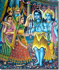 Marriage ceremony of Shiva and Parvati