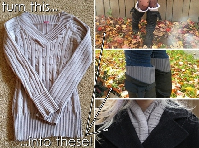 3 Ways to Refashion an Old Sweater by allons-y kimberly