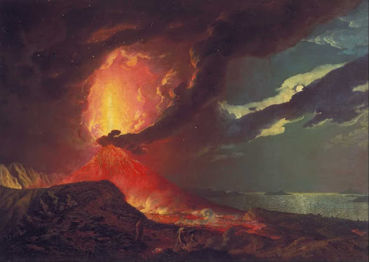 Wright of Derby Joseph, Vesuvio in eruzione