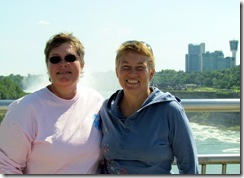 Gin and Syl at Niagara from the Observation Tower