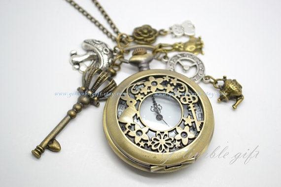 Alice in Wonderland Necklace from Gelivablegift