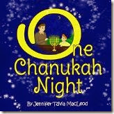 children's book cover:  One Chanukah Night, by Jennifer Tzivia MacLeod