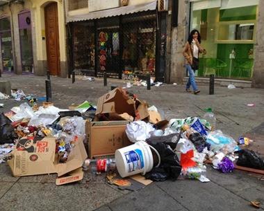Basura en Madrid