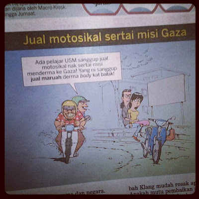 Jual Motosikal Sertai Misi GAZA