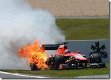 Bianchi con la Marussia nel gran premio di Germania 2013