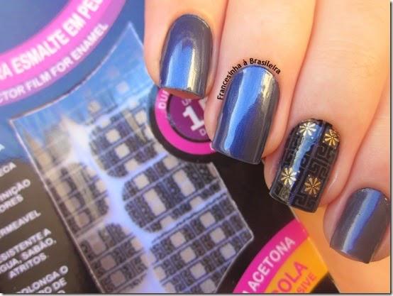 Novo azul (Risque) e protector nail