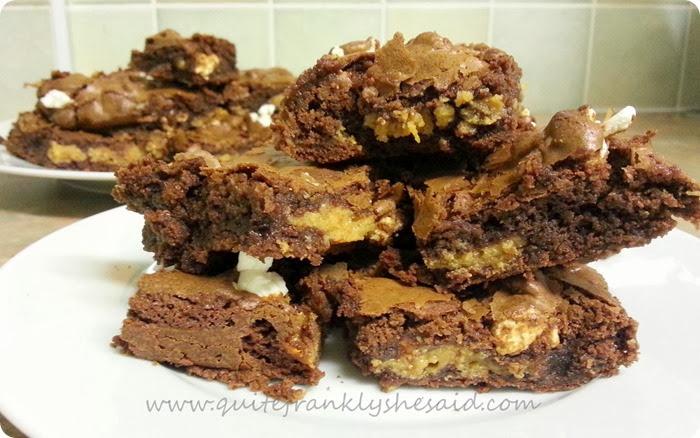 salted caramel popcorn brownie recipe