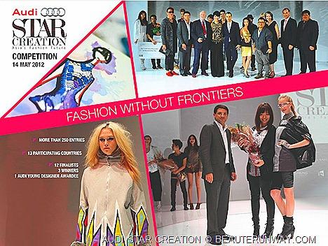 AUDI STAR CREATION 2012 FINALISTS FJ BENJAMIN SINGAPORE FASHION ASIA FASHION EXCHANGE RUNWAY SHOW AT ORCHARD Audi Young Designer Award