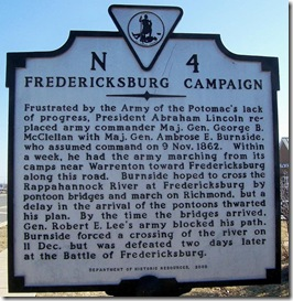 Fredericksburg Campaign, marker N-4 in Stafford County, VA