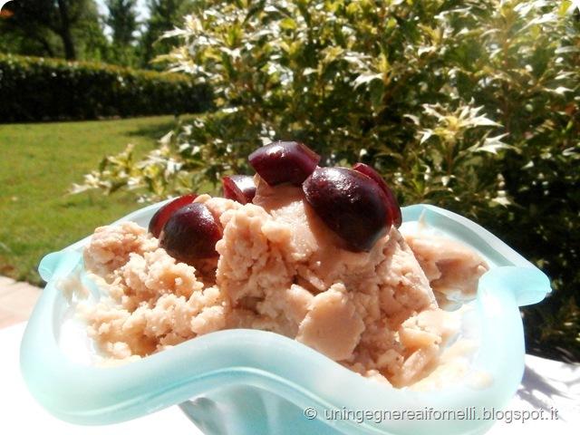 gelato zucchine crema nocciole ciliegie gelatiera