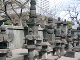 Fukagawa graveyard: these are quite different from the other haka; I'm not certain what they signify