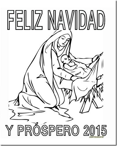 FELIZ NAVIDAD Y PROSPERO AÑO NUEVO 2015 COLOREAR 3