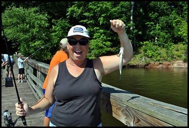 4 - Julie was catching
