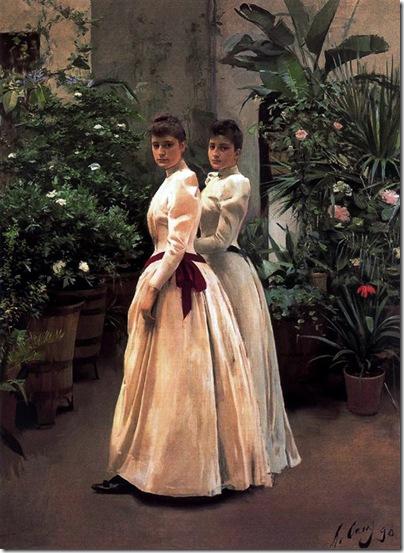 ramon casas i carbo_Retrato de las señoritas N.N. (1890)