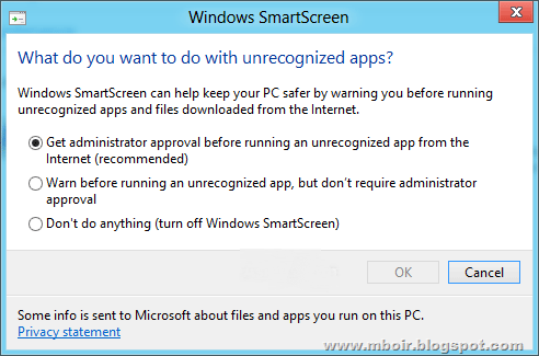 Windows 8 Smart Screen - mboir