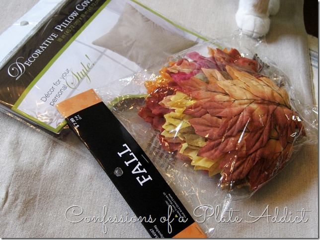 CONFESSIONS OF A PLATE ADDICT Pottery Barn Inspired Fall Wreath Pillow supplies