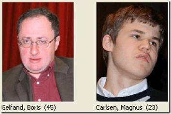 Gelfand vs Carlsen, round 3, Candidates 2013