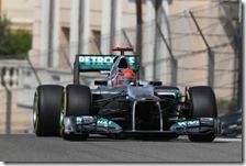 Schumacher nelle qualifiche del gran premio di Monaco 2012