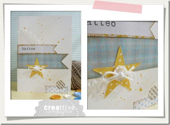 biglietto stella - nascita battesimo comunione cresima bimbo 1