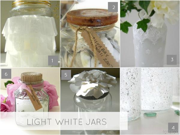 Jars Light White Collage