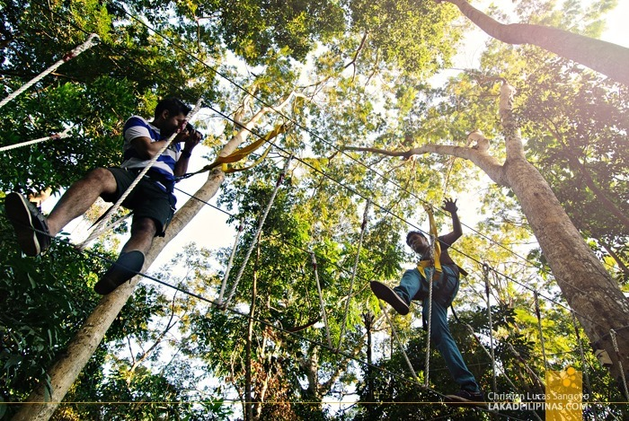 Walking Above the Ground at Subic's JEST Camp Adventure