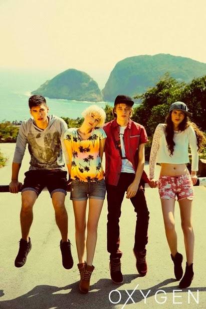 Oxygen clothing IM Agency models