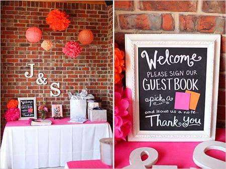 Semplicemente Perfetto guestbooktable
