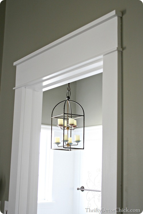 My love chunky trim from thrifty decor chick for Door moulding