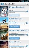 Screenshot of CinemaNow Canada