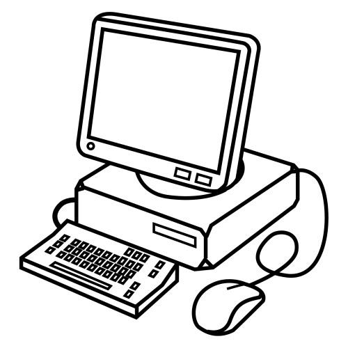Ordenadores dibujos para colorear - Mesa de dibujo portatil ...