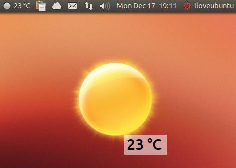 My Weather Indicator 0.5.90 su Ubuntu