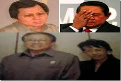 Presiden SBY dengan sengman dan bunda putri