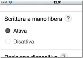 Google attivare Scrittura a mano libera