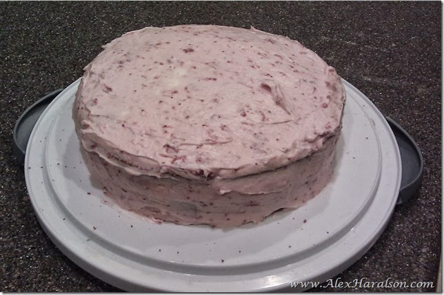 homemade strawberry birthday cake4