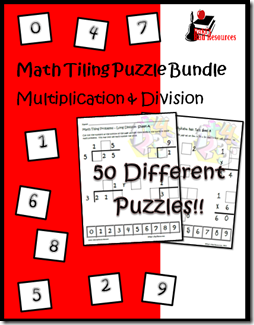 Math tiling puzzles allow students to work on math facts, math concepts and critical thinking all at the same time. Stop by Raki's Rad Resources to find more information about these fabulous puzzles.
