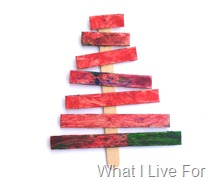 Popsicle Stick Ornaments @ What I Live For