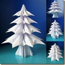 christmas tree paper airplaines