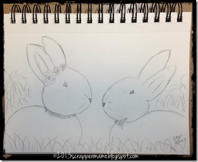 sketching bunnies 1 Mar 2013