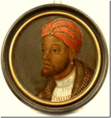 Alemão ou flamengo. Retrato homem negro rico, 1540  Antuérpia.