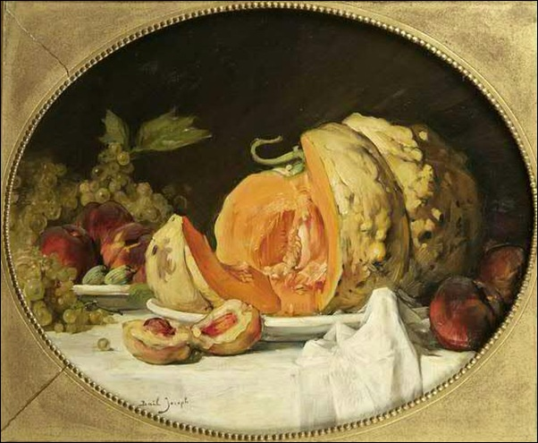 Joseph Bail, Nature morte à la citroulle et aux fruits