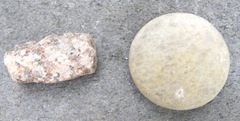 rocks rectangular and round
