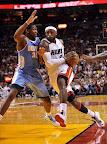 lebron james nba 121103 mia vs den 05 King James wears 5 Colorways of Nike LeBron X in 6 Games