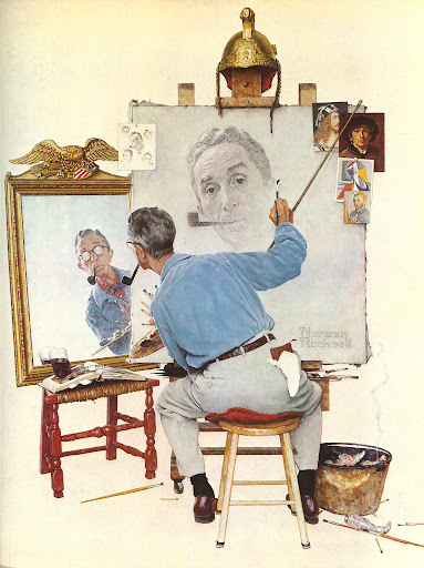 Self-portraits by famous artists are always so interesting, and Rockwell's 