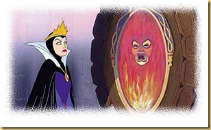 Snow White - wicked queen and her magic mirror