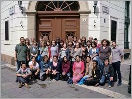 Os participantes do curso de verão, representando todos os continentes