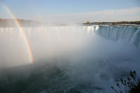 Rainbow over the horseshoe falls