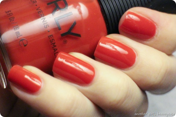 LFB Hellrot Orly Risque Encounter Swatch Review (3 von 3)