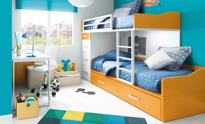 Habitaciones infantiles con literas un espacio para compartir - Habitaciones infantiles tren ...