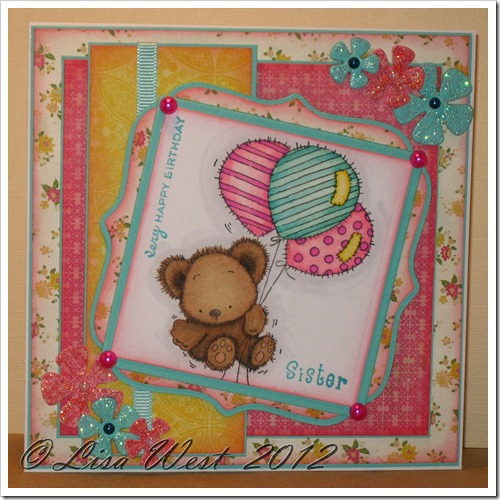 Patchwork Bunch of Balloons Card (2)